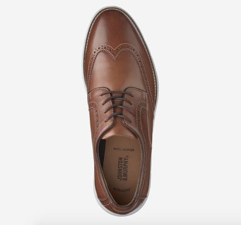 JOHNSTON & MURPHY HOLDEN WINGTIP TAN TOP