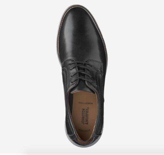 JOHNSTON & MURPHY HOLDEN PLAIN TOE TOP BLACK