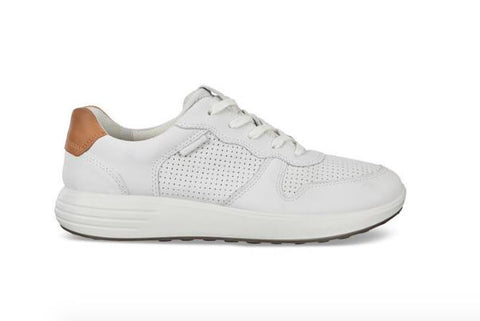 ECCO SOFT 7 RUNNER LACE-UP SNEAKERS WHITE SIDE