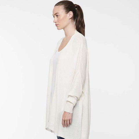 LINE - LONG KNIT CARDIGAN WHITE