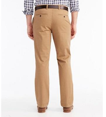 L.L.BEAN LAKEWASHED STRETCH KAHKIS BACK