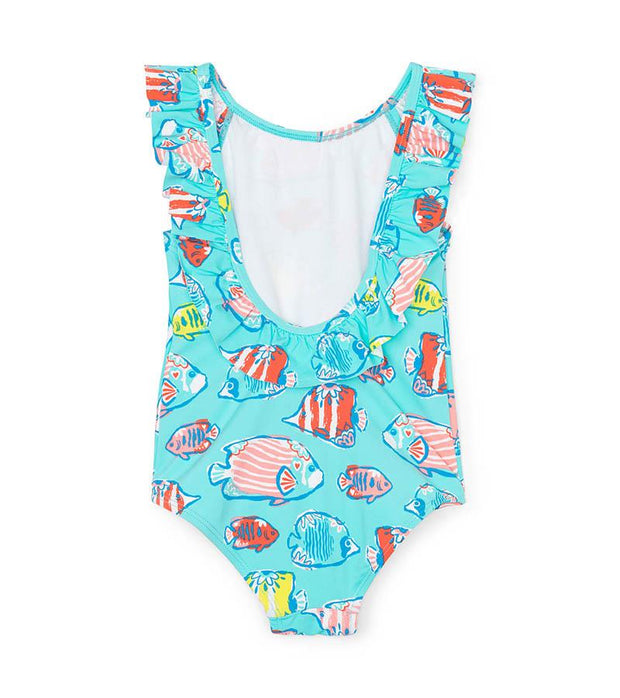 HATLEY - COLOURFUL FISHIES RUFFLE SWIMSUIT