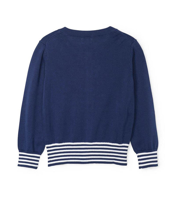 HATLEY - NAUTICAL NAVY CARDIGAN