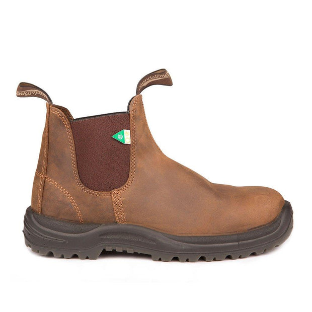 BLUNDSTONE- MEN'S 164- WORK & SAFETY BOOT CRAZY HORSE BROWN SIDE