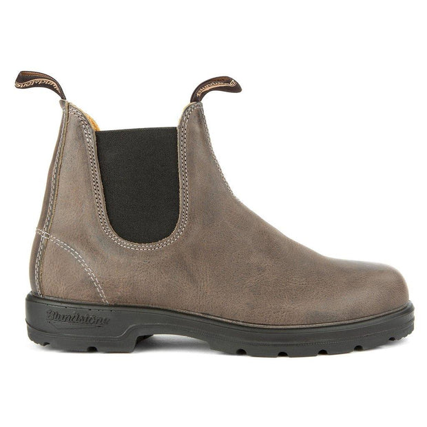 BLUNDSTONE- MEN'S 1469- LEATHER LINED CLASSIC STEEL GREY SIDE
