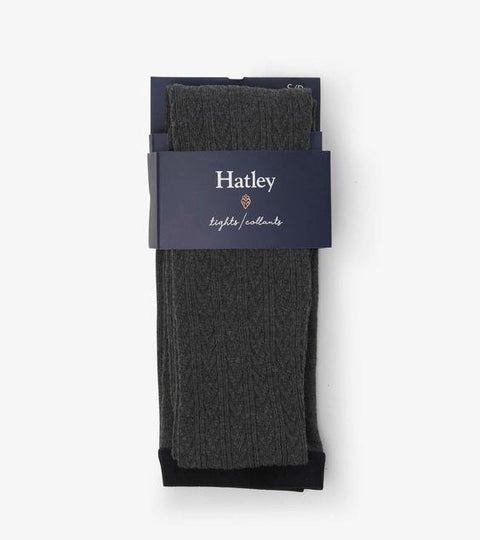 HATLEY- Cable Knit Tights - Charcoal Melange