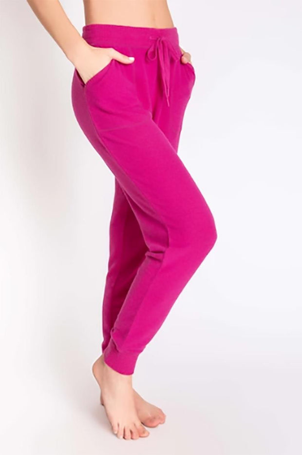 PJ SALVAGE PEACHY IN COLOUR BANDED PANT SIDE