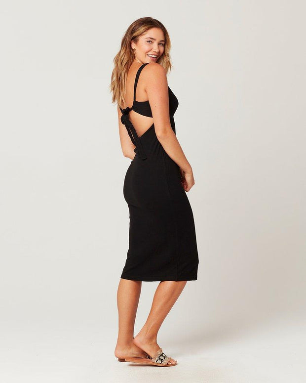 L*SPACE KAIA DRESS BLACK BACK