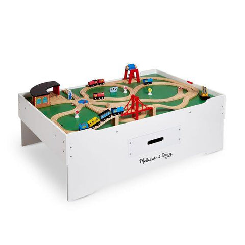 MELISSA AND DOUG ACTIVITY TABLE TRAINS