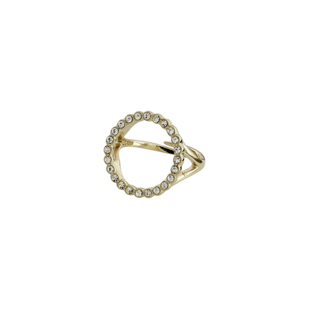 PILGRIM MALIN CRYSTAL RING GOLD