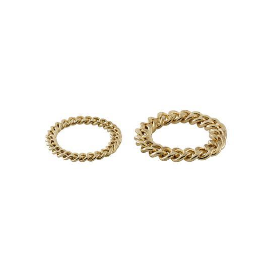 PILGRIM RING CHAIN SET GOLD