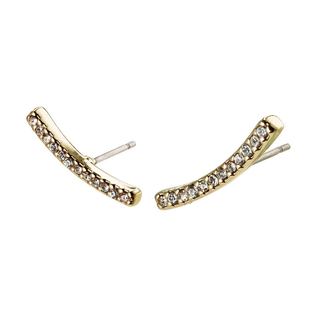 PILGRIM FIRE GOLD PLATED CRYSTAL STUD