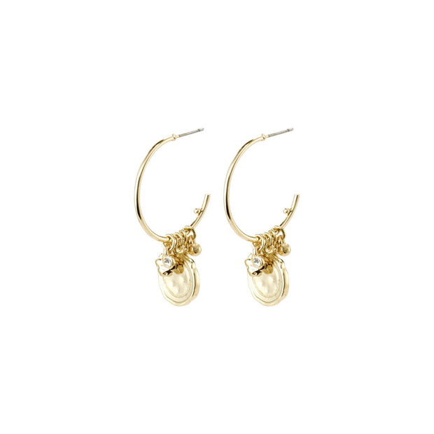 PILGRIM AIR CRYSTAL EARRINGS GOLD