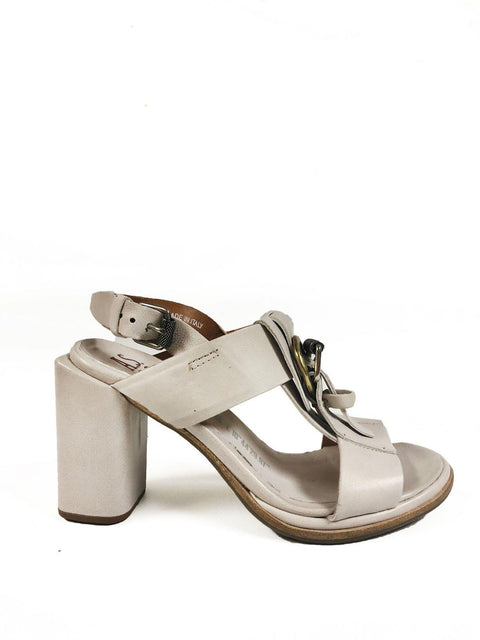 A.S98 A03005 WHITE HEELED SANDAL