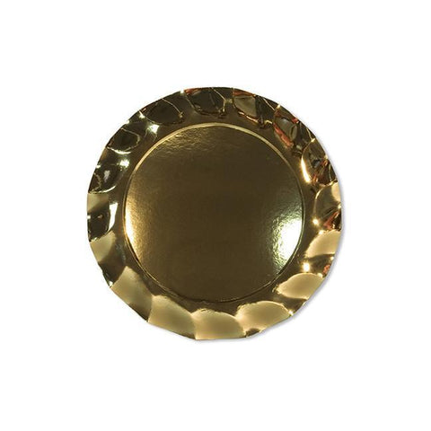 SIMPLY BAKED - APPETIZER PLATE GOLD METALLIC