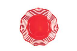 SIMPLY BAKED - WAVY SALAD PLATE RED