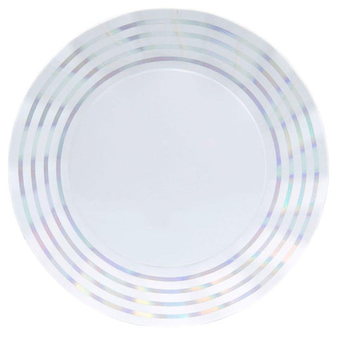 SIMPLY BAKED - WAVY DINNER PLATE IRIDESCENT