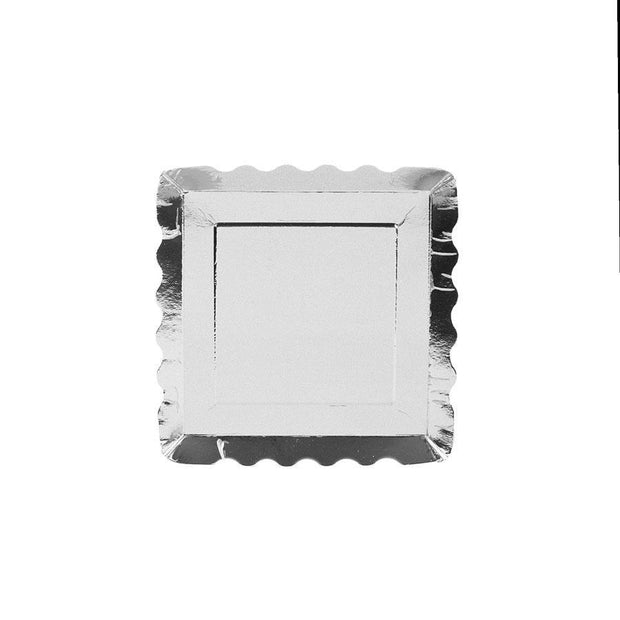 SIMPLY BAKED - APPETIZER PLATE SILVER METALLIC