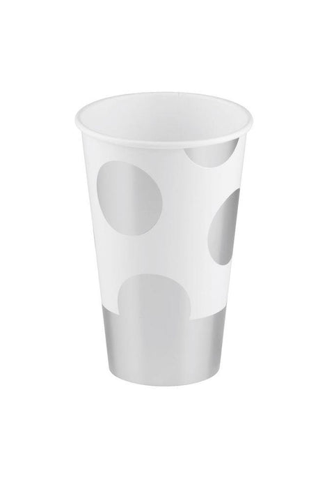 SIMPLY BAKED - PAPER CUP SILVER DOT
