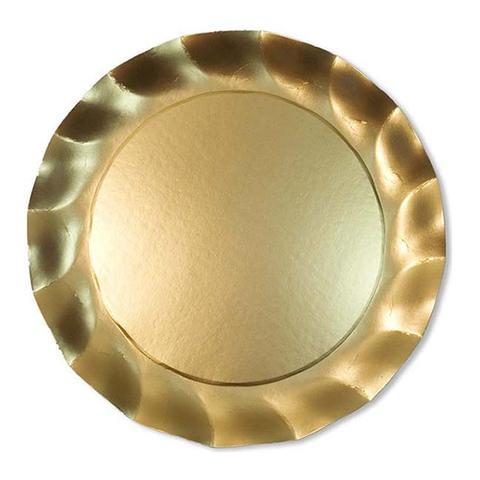 SIMPLY BAKED - WAVY CHARGER SATIN GOLD