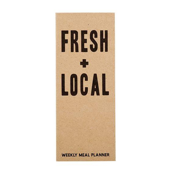 SANTA BARBARA DESIGN STUDIO- WEEKLY MEAL PLANNER- FRESH + LOCAL