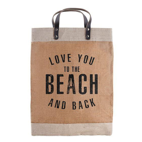 DESIGN HOME- FARMERS MARKET TOTE- LOVE YOU TO THE BEACH AND BACK