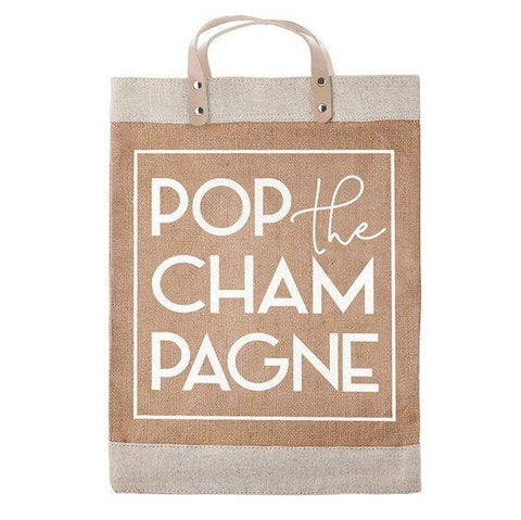 DESIGN HOME- FARMERS MARKET TOTE- POP THE CHAMPAGNE