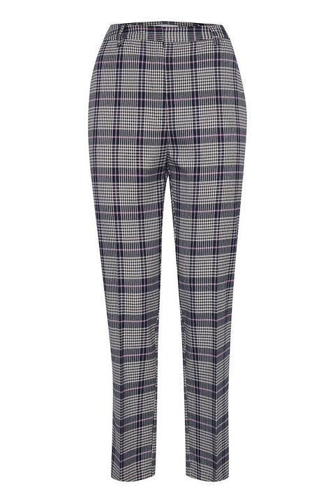 ICHI ADDA PANTS PLAID FRONT