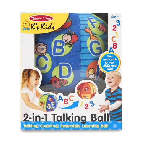 MELISSA & DOUG - 2 IN 1 TALKING LEARNING BALL