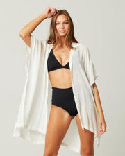 L*SPACE ANITA COVER UP OPEN FRONT WHITE