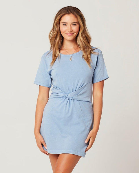 L*SPACE BEACHWOOD DRESS BLUE FRONT