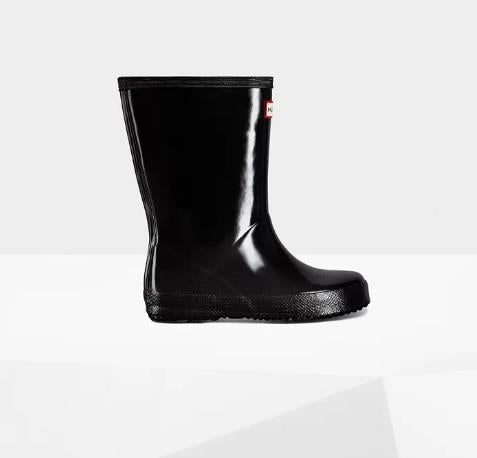 HUNTER ORIGINAL FIRST CLASSIC GLOSS RAINBOOT BLACK SIDE