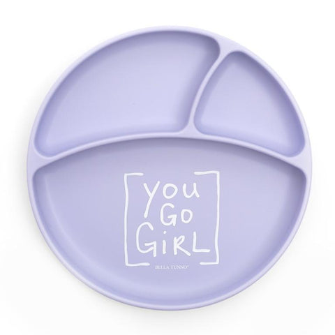 BELLA TUNNO YOU GO GIRL PLATE PURPLE