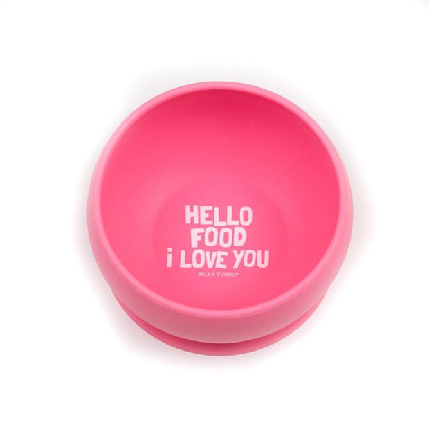 BELLA TUNNO HELLO FOOD I LOVE YOU BOWL PINK