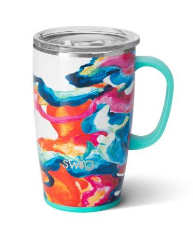 SWIG LIFE - COLOUR SWIRL TRAVEL MUG