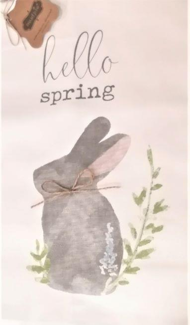 MUD PIE - HELLO SPRING TEA TOWEL