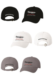 BOBCAYGEON STRONG HATS BLACK WHITE AND GREY