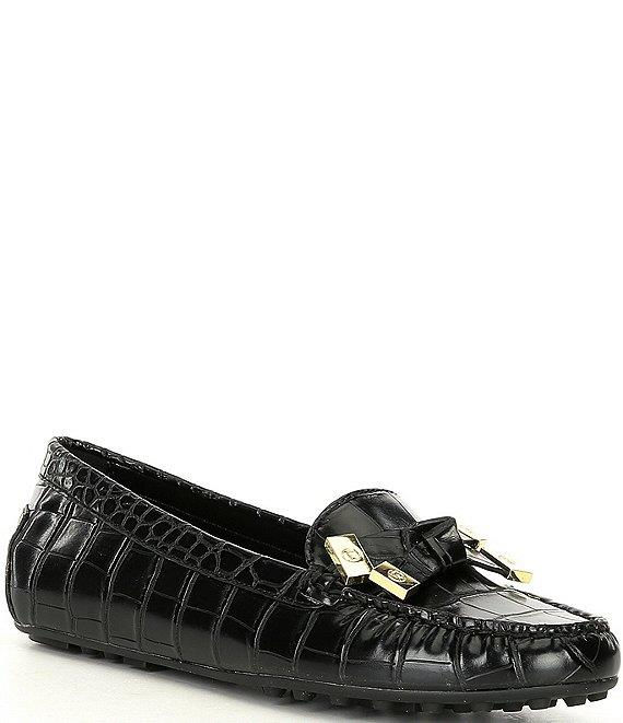 Michael Kors- Ripley Croco Embossed Leather Moccasins