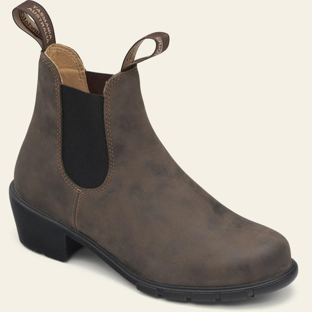 BLUNDSTONE- 1677 WOMEN'S SERIES HEELED BOOTS - RUSTIC BROWN