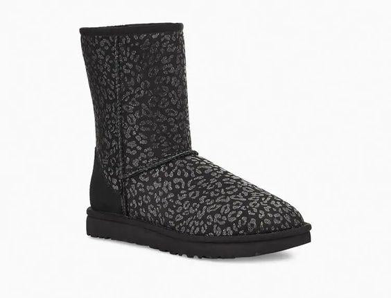 UGG- WOMEN'S CLASSIC SHORT SNOW LEOPARD BOOT
