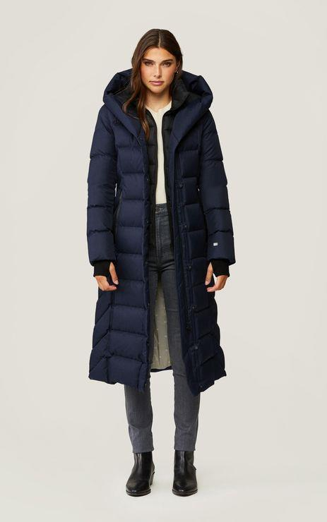 SOIA & KYO- TALYSE MAXI-LENGTH BRUSHED DOWN COAT