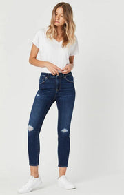MAVI- TESS IN RIPPED ORGANIC BLUE JEANS
