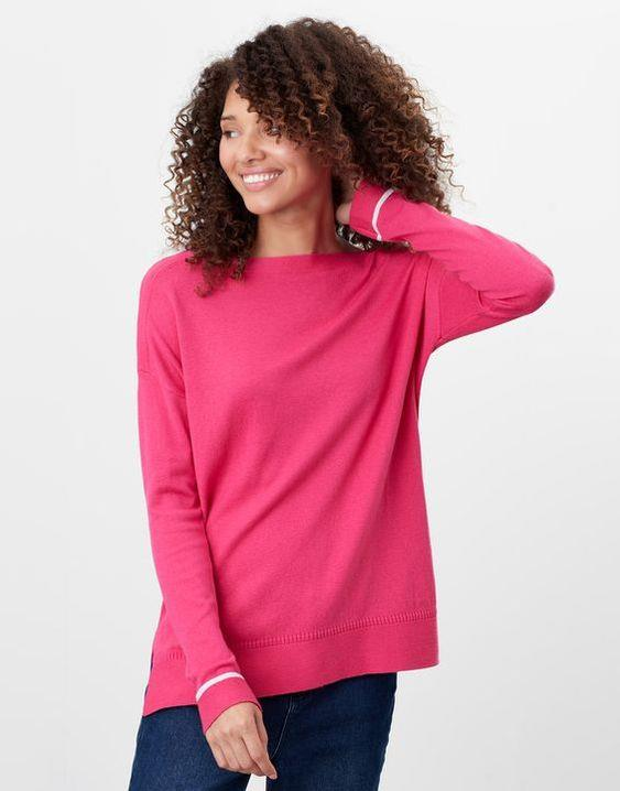 JOULES- VIVIANNA SLASH NECK SWEATER