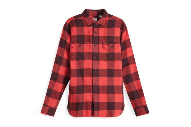 LEVI- PLAID BUTTON UP-19573-0122