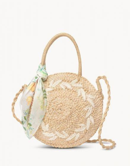 SPARTINA - ROUND STRAW TOTE