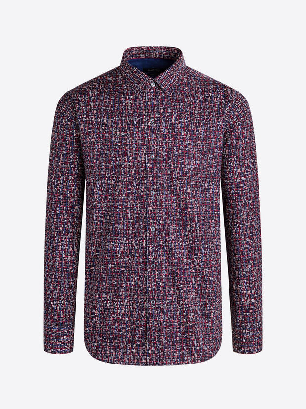 BUGATCHI - BORDEAUX LONG SLEEVE SHIRT
