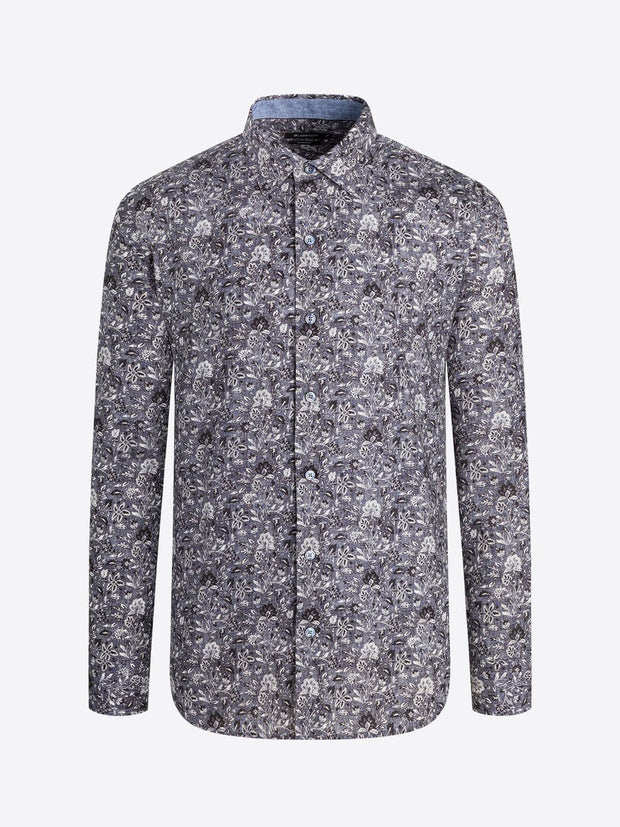 BUGATCHI GRAPHITE LONG SLEEVE MENS SHIRT PS3364L6