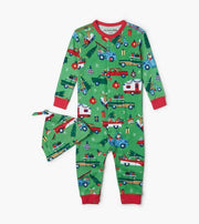 HATLEY- Retro Christmas Baby Coverall with Hat