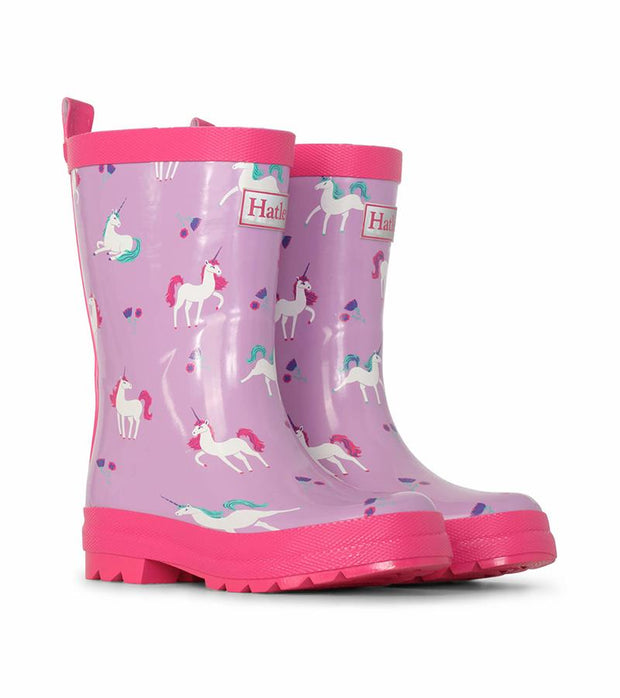 HATLEY - SHINY RAIN BOOTS PLAYFUL UNICORNS