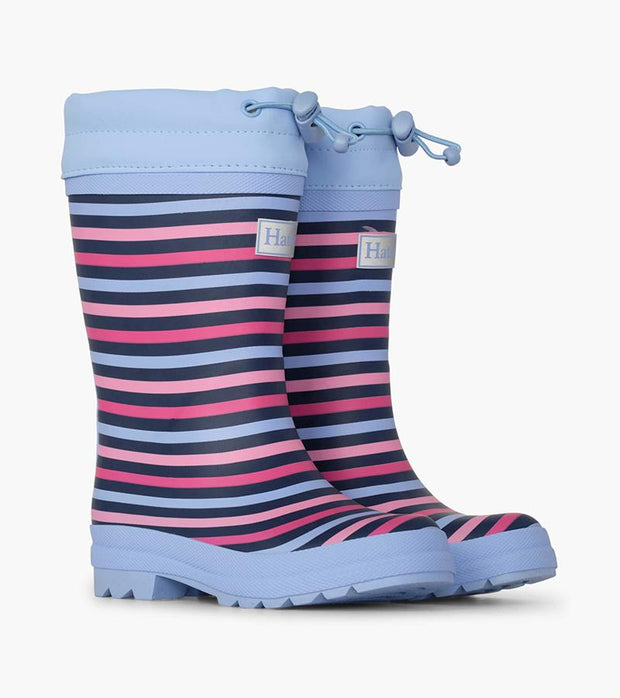 HATLEY - SHERPA LINED RAINBOW STRIPED BOOTS